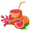Grapefruit juice pouring. - Stock Vector