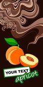 Apricot. Label design. — Stock Vector
