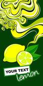 Label design. Lemon. — Stock Vector