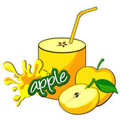 Apple juice bottle. — Stock Vector
