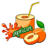 Apricot cocktail. — Stock Vector