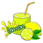 Lemon cocktail. — Stock Vector