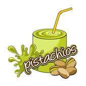 Pistachios coctail. — Stock Vector