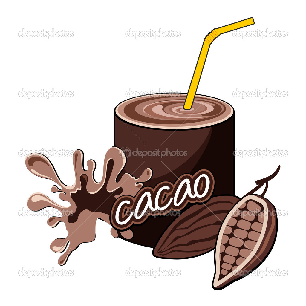 Cacao cocktail bottle design. — Stock Vector #11439104