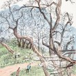 Traditional Chinese painting of plum blossom — ストック写真 #11900334