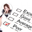 Poor employee ! Company performance audit checklist — Stock Photo