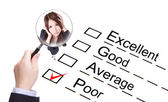Poor employee ! Company performance audit checklist — 图库照片