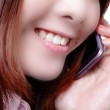 Business woman speaking phone close up — Stock Photo #12144692