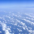 Blue sky clouds view from aircraft airplane — Stock Photo