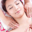 Woman getting massage and spa on shoulders - Foto de Stock  
