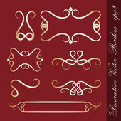 Decorative borders — Vector de stock