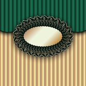 Green Vintage Textured Template — Stock Vector