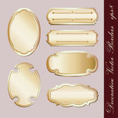 Set of decorative borders — Vettoriale Stock