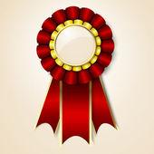 Red vecor prize ribbon — Stock Vector
