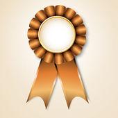 Vecor prize ribbon — Stock Vector