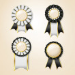 Set of vector prize ribbons — Stock Vector