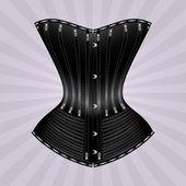 Black vector corset — Stock Vector