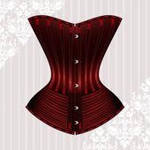 Red vector corset — Stock Vector