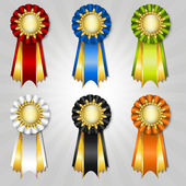 Set of vecor prize ribbons — Stock Vector