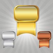 Prize ribbons — Stock Vector