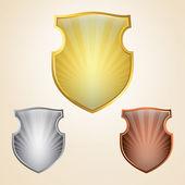 Shield set — Stock Vector