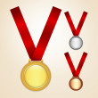 Royalty-Free Stock Vector Image: Set of medals
