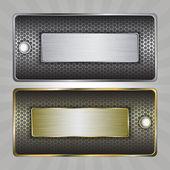 Metal badges — Stock Vector