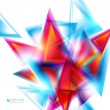 Abstract background with red and blue triangles. Vector illustra — Stock Vector