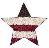 A patriotic star made of beans — Stock Photo