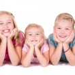 Three sisters smiling — Stock Photo