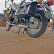 CHurnyy motorcycle for sport and journey in dull weather — Stock Photo #11075507