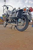 CHurnyy motorcycle for sport and journey in dull weather — Stock Photo