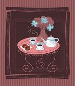 Romantic Table Background — Vecteur