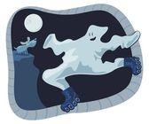 Ghost Cartoon — Vector de stock