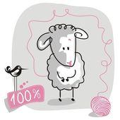 Doodle Sheep — Stock Vector