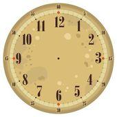 Vintage Clock Face — Stock Vector