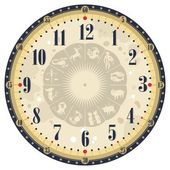 Vintage Clock Face — Stock Vector