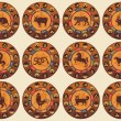 Royalty-Free Stock Vector Image: Chinese Zodiac Set