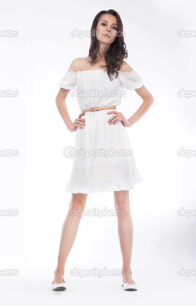 Fashionable Stylish Girl Fashion Model In Dress Stock Photo Gromovataya 10761149