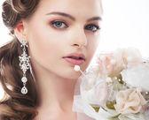 Güzel kadının nişanlısı. freshess ve güzellik — Stok fotoğraf