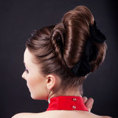 Festive hairstyle and holiday coiffure — Stock Photo