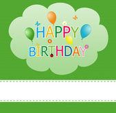Happy card for birthday — Stock Photo