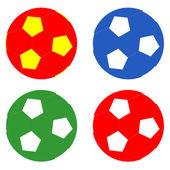 Ballonger i fotboll — Stockfoto