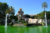 Fountain in Parc de la Ciutadella — Stock Photo