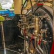Steam engine cab — Stock Photo