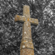 Graveyard stone cross — Stock Photo