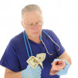Escalating medical costs — Stock Photo