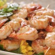 Shrimp skewered — Foto Stock