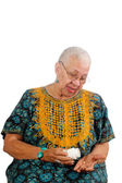 Elderly African American woman — Stock Photo