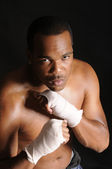Young African American boxer — Stock Photo